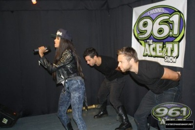 Performing at Channel 96.1 The Ace & TJ Show in Charlott & Kiss 95.1[6 августа]