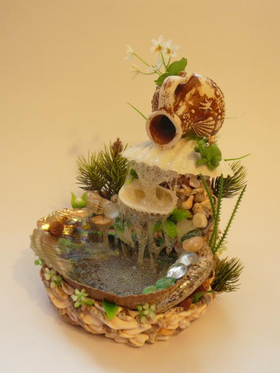Водопад из ракушек поделки