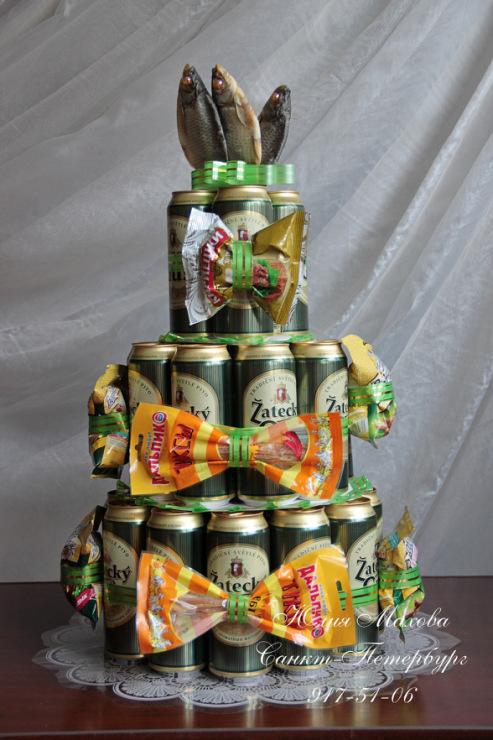 Торты из пива для мужчин своими руками фото