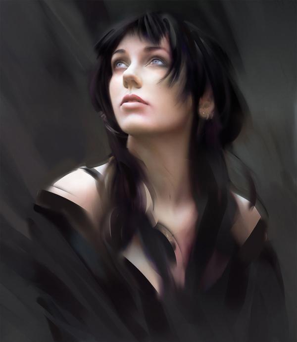 фото темноволосой девушки