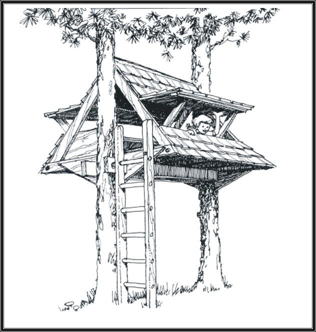 Шалаш своими руками на дереве чертежи