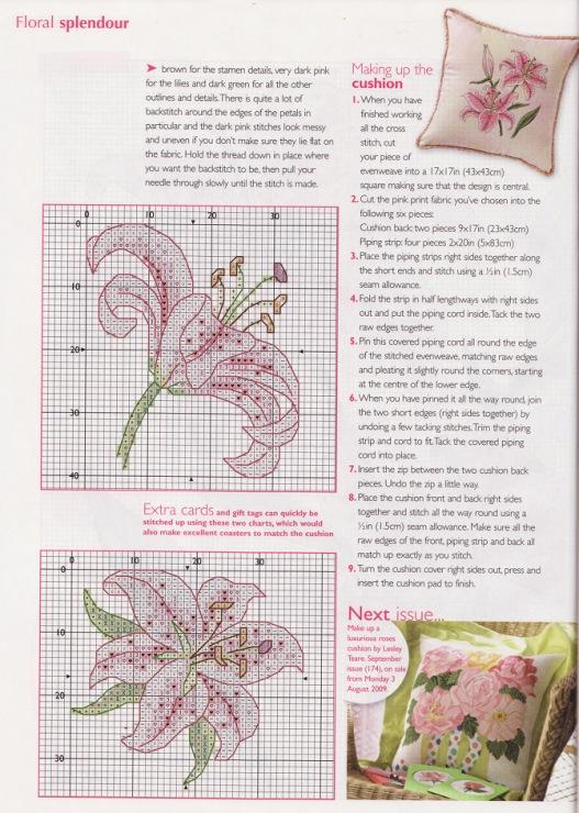 Схема вышивки лилии схема и описание