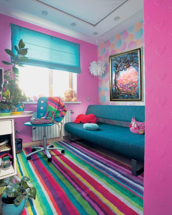 Дизайн яркой детской комнаты, донецк