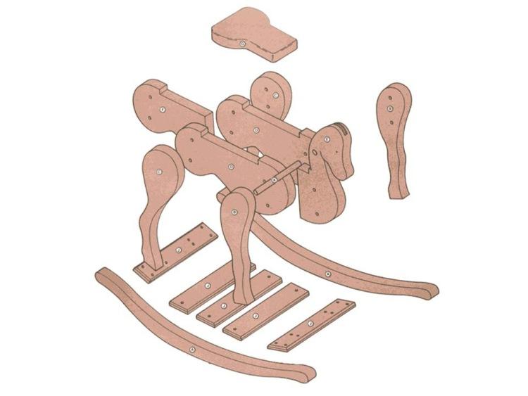Качалки для детей из дерева чертежи