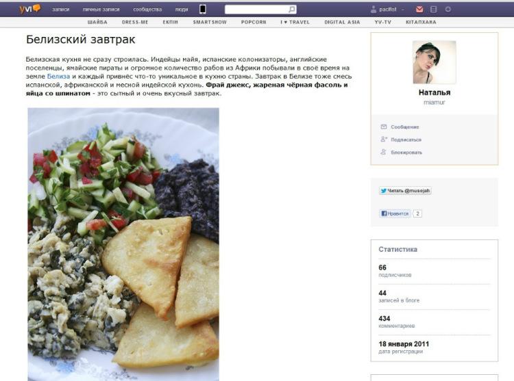 Всё о кулинарном казнете. Часть 2. От блогов к сайтам