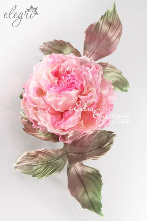 Цветы из ткани. .