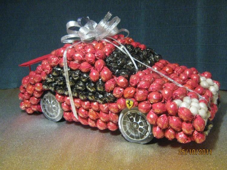Машина из конфет своими руками пошаговые фото