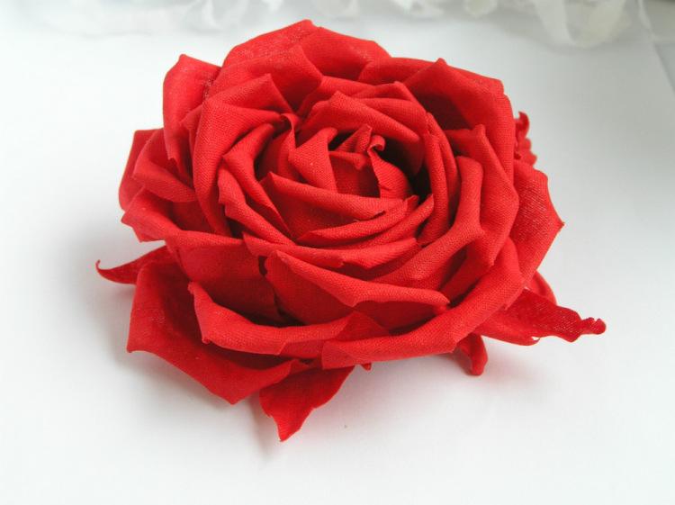 Сделать розу из ткани видео