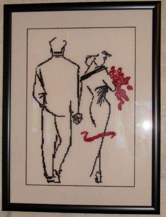 Схема вышивки влюбленная пара,