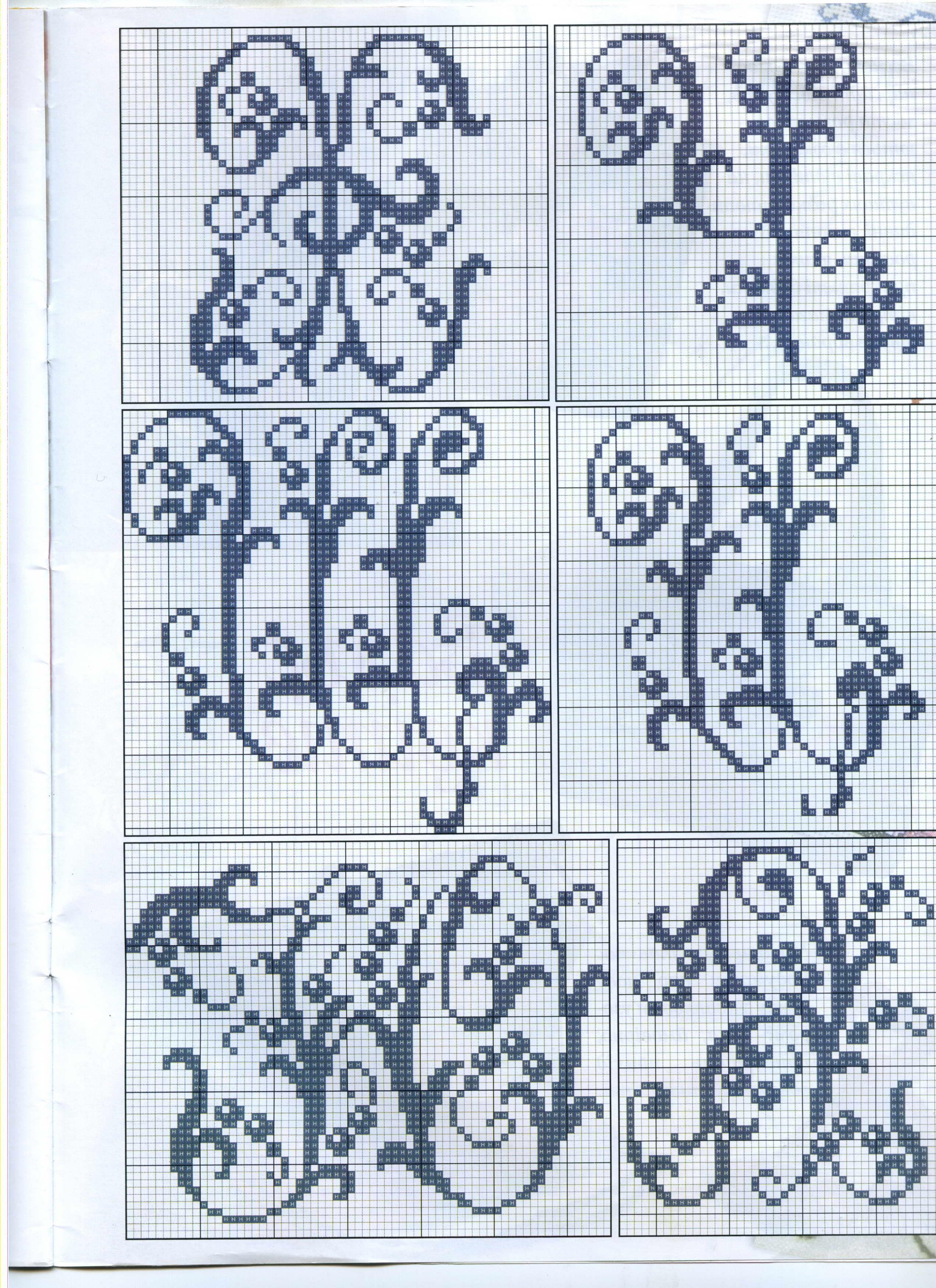 схема букв для вязания спицами английского алфавита