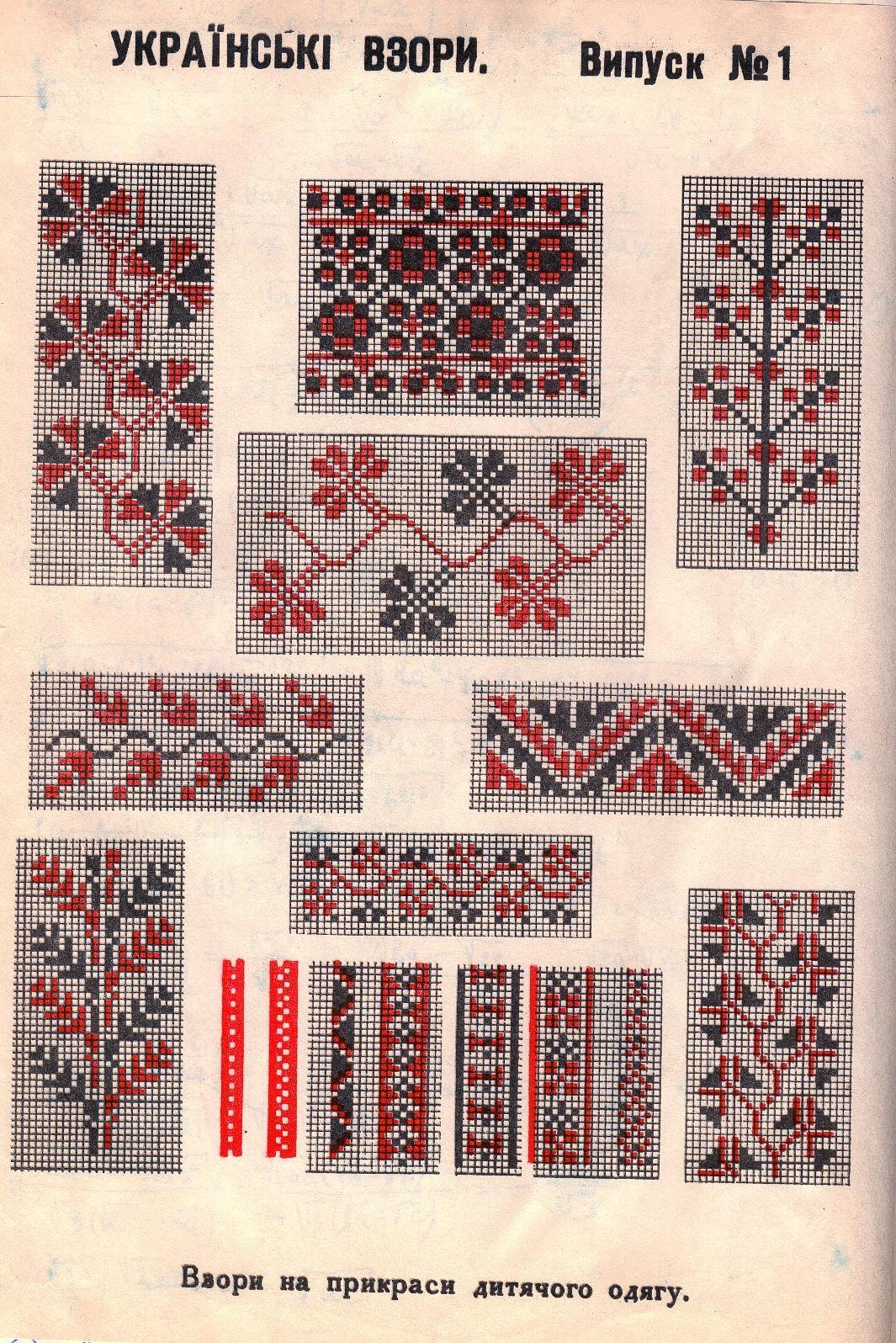 Орнаменты украинской вышивки крестом