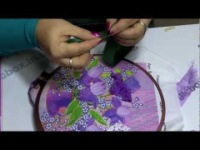 Смотрим онлайн Мастер-класс по вышивке лентами, урок 3 вышивка лентами мастер класс картины лентами мастер класс.