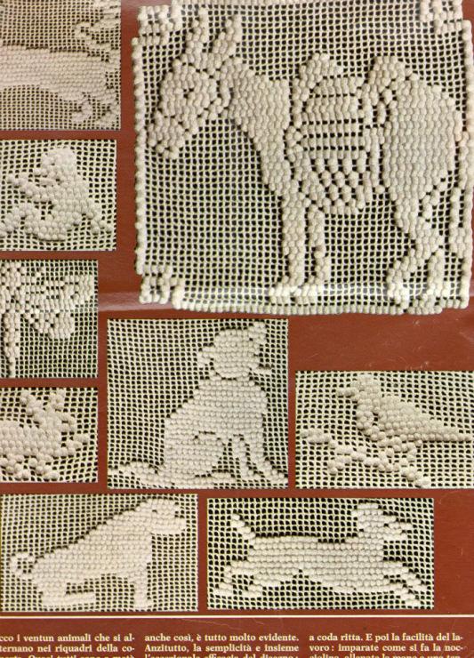 Филейное вязание крючком с вышивкой