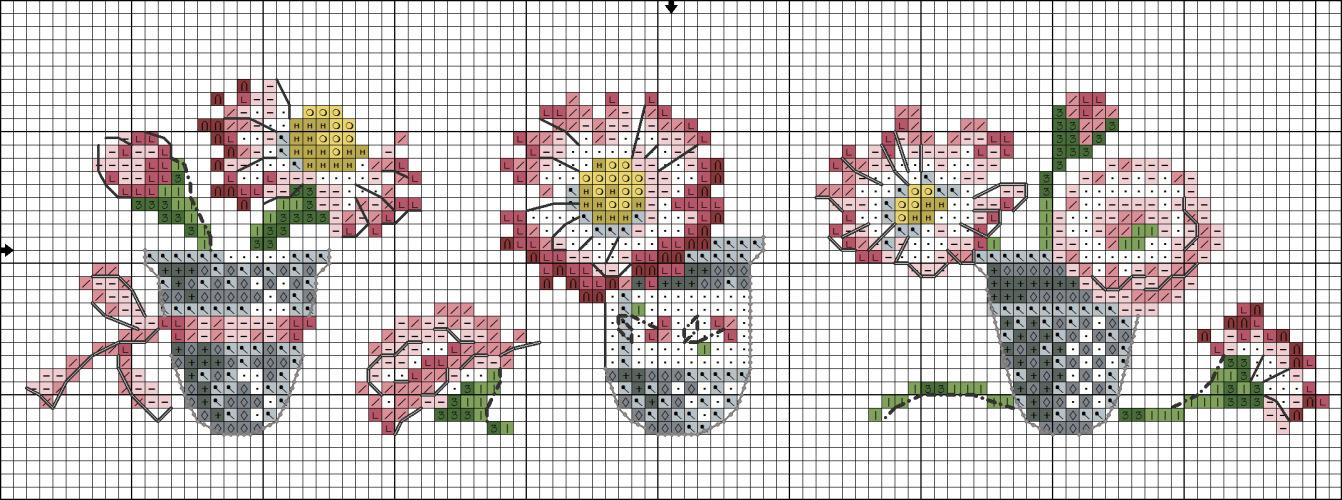 Схемы для вышивания с наперстками. Обсуждение на LiveInternet