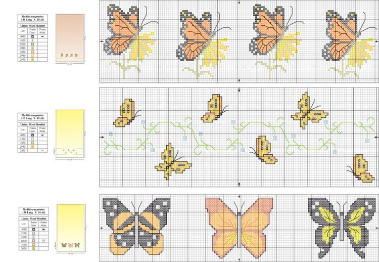 схемы вышивки бисером бабочки - Это бисер!