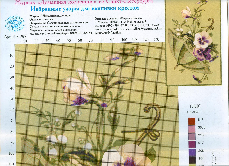 Схемы вышивки из журнала домашняя