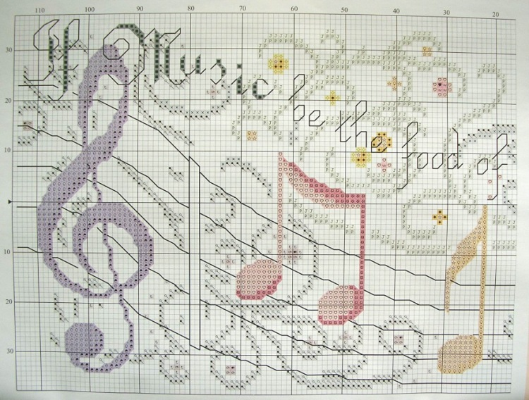 Схемы для вышивки крестом скрипка 551