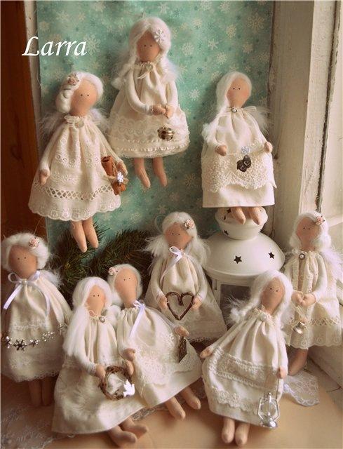 Рождественские ангелы тильда своими руками