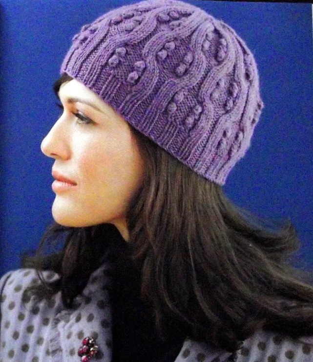 шапка женская - Самое интересное в блогах - LiveInternet.ru. Вязание спицами женских зимних шапок с отворотом